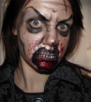 Flat Zombie Makeup by PlaceboFX