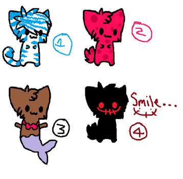 Cat Adoptables!!!! by boonfish