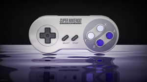 SNES Gamepad render by ArRoW-4-U