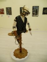 Our custom-made mannequin at an exhibition by ChanceZero