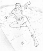 Tomb Raider in pencil by caradura86