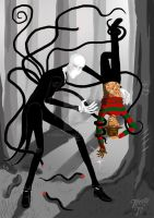 Slender VS Freddy by Tressytc