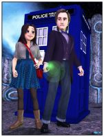14-06-30 The Doctor and Clara by aldemps