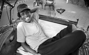 Wide open Smile of Becak Rider by Heru-Wonderland