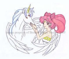 Chibiusa and Pegasus by Chibiusa14