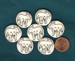 Hippo buttons....sort of by Glori305