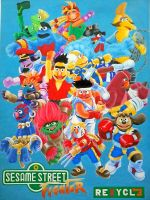 Sesame Street Fighter Alpha by rejhexz