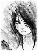 Anime Girl ::Charcoal Drawing:: by lavonia
