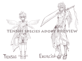 Tenshi species + Exorcist ADOPT Preview by Aritsune-chan