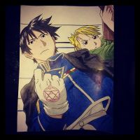 Roy Mustang and Lt. Hawkeye by Karina-o-e