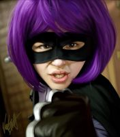 Hit Girl portrait face study by vic55b