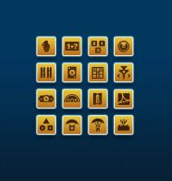 Icons for Iphone game called 'AIR TAPTICS and quo by ScriptKiddy