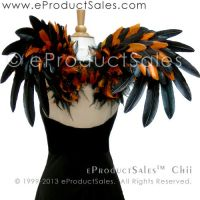 Black/Orange FeatherCHII Angel Wings 4 Halloween by eProductSales