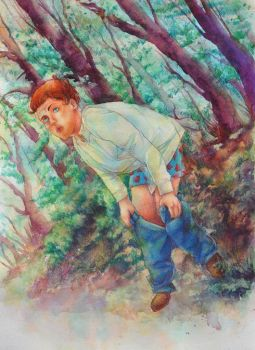 9. Going to the Bathroom in the Woods by annsquare