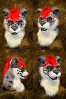 Kiro the Snow Leopard Head by temperance