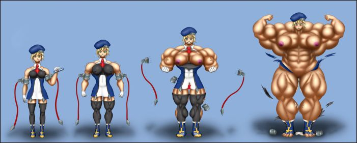 Noel Vermilion Muscle Growth Comission by RiseArt77