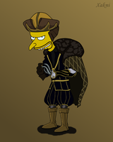 Mr. Burns as Nobleman by xakni