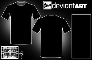 DA Blank Shirt Template I by rclarkjnr