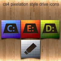 cs4-5 pixelation drive icons by mikemartin1200