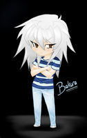 Chibi Bakura - Digital Version by Biology-of-Pencils