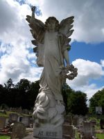 White Stone Angel Stock by XerStock