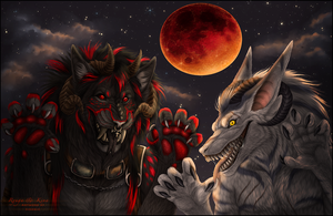 Lunar Eclipse by Sidonie