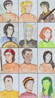 Percy Jackson and characters 1 by talita-rj