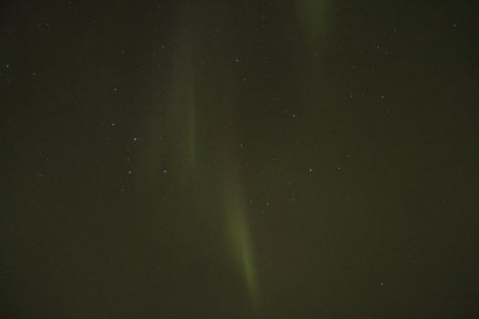 Cassiopeia with northern light by Singingnaturist