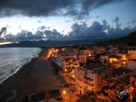 sunset in Sperlonga by tommaso-sanguigni