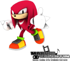 Classic Knuckles 1st 3D Render by marvinvalentin07