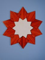 Mirror frame, 10 point star by sharp-chisel