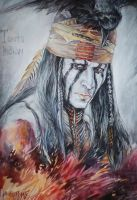 Depp as Tonto by MarinaCardoso