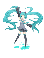 Oh no, Miku by Luwo