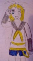 Chibified Rin Kagamine vocaloid by Fran48