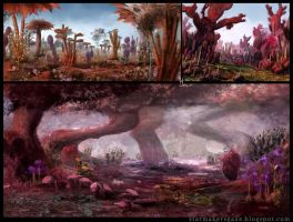 Genius Loci: Red forest concept by Ranarh