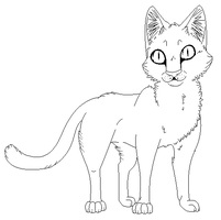 cat lineart 2 *realistic* by Skelos-kath