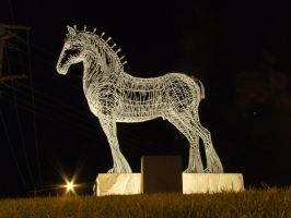 Clydesdale Statue 001 - Stock by EasternBrumbyStock