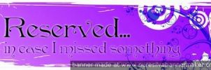 Cubicle Reserved Banner by zoe042