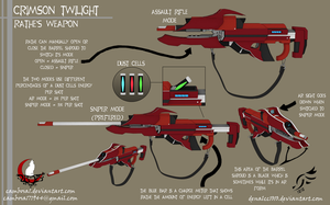 'Crimson Twilight' - RWBY OC Weapon (Commission) by DenalCC1010
