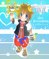 Kingdom hearts 10th anniversary by CronoHero