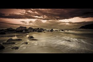 Sepia Seascape by CainPascoe