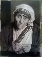 Mother Teresa by Rodelrosario