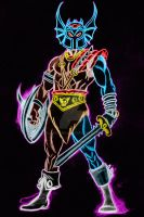 warduke color neon by AlanSchell