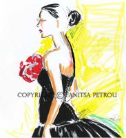 Black dress-fashion illustr. by fanitsafantasy