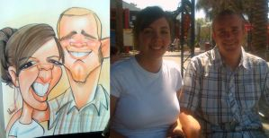couple caricature IV by marcocano