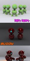 Buddy the Droid by Balthaser