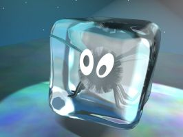 Fly In An Icecube 3D by MangaGothic