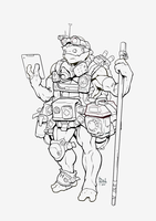 Donatello lineart by AlexRedfish
