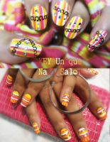 hot summer nail by YEYUniqueNail