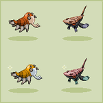 Fossil fakemon sprites by HedgehogBeeblebrox